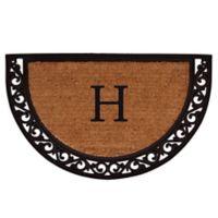 "Home & More Ornate Scroll Monogram Letter ""H"" 24-Inch x 36-Inch Slice Door Mat"