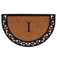 "Home & More Ornate Scroll Monogram Letter ""I"" 24-Inch x 36-Inch Slice Door Mat"