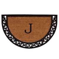 "Home & More Ornate Scroll Monogram Letter ""J"" 24-Inch x 36-Inch Slice Door Mat"
