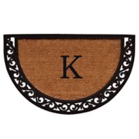 "Home & More Ornate Scroll Monogram Letter ""K"" 24-Inch x 36-Inch Slice Door Mat"