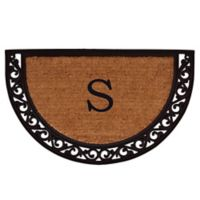 "Home & More Ornate Scroll Monogram Letter ""S"" 24-Inch x 36-Inch Slice Door Mat"