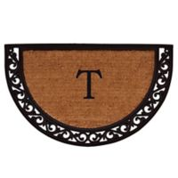 "Home & More Ornate Scroll Monogram Letter ""T"" 24-Inch x 36-Inch Slice Door Mat"