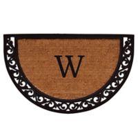 "Home & More Ornate Scroll Monogram Letter ""W"" 24-Inch x 36-Inch Slice Door Mat"