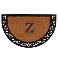 "Home & More Ornate Scroll Monogram Letter ""Z"" 24-Inch x 36-Inch Slice Door Mat"