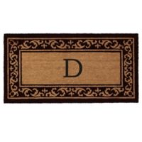 "Home & More Kendall Monogram Letter ""D"" 24-Inch x 48-Inch Door Mat"