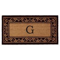 "Home & More Kendall Monogram Letter ""G"" 24-Inch x 48-Inch Door Mat"