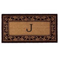 "Home & More Kendall Monogram Letter ""J"" 24-Inch x 48-Inch Door Mat"