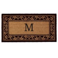 "Home & More Kendall Monogram Letter ""M"" 24-Inch x 48-Inch Door Mat"