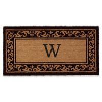 "Home & More Kendall Monogram Letter ""W"" 24-Inch x 48-Inch Door Mat"