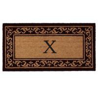 "Home & More Kendall Monogram Letter ""X"" 24-Inch x 48-Inch Door Mat"