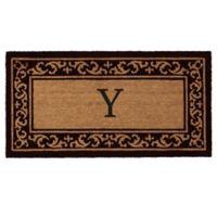 """Home & More Kendall Monogram Letter """"Y"""" 24-Inch x 48-Inch Door Mat"""