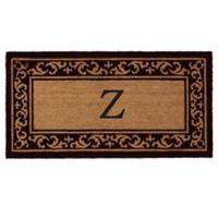 "Home & More Kendall Monogram Letter ""Z"" 24-Inch x 48-Inch Door Mat"