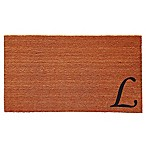 "Home & More Urban Chic Monogram Letter ""L"" 24-Inch x 36-Inch Door Mat"