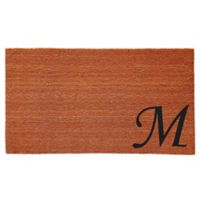 "Home & More Urban Chic Monogram Letter ""M"" 18-Inch x 30-Inch Door Mat"