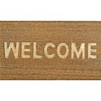 "Home Dynamix 18-Inch x 30-Inch Embossed Coir ""Welcome"" Door Mat in Natural"
