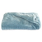 Great Bay Home Landon Courte Oversize Plus Throw Blanket in Blue