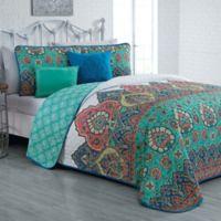 Avondale Manor Livia Queen Reversible Quilt Set in Jade