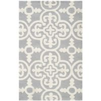 Safavieh Cambridge 2-Foot 6-Inch x 4-Foot Ava Wool Rug in Silver/Ivory