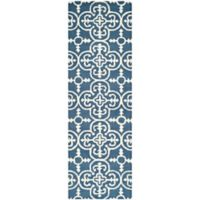 Safavieh Cambridge 2-Foot 6-Inch x 6-Foot Ava Wool Rug in Navy /Ivory
