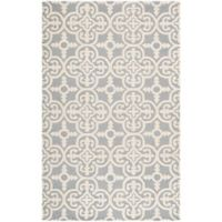Safavieh Cambridge 4-Foot x 6-Foot Ava Wool Rug in Silver/Ivory