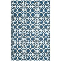 Safavieh Cambridge 4-Foot x 6-Foot Ava Wool Rug in Navy /Ivory