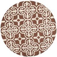 Safavieh Cambridge 6-Foot x 6-Foot Ava Wool Rug in Dark Brown/Ivory