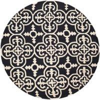 Safavieh Cambridge 6-Foot x 6-Foot Ava Wool Rug in Black/Ivory
