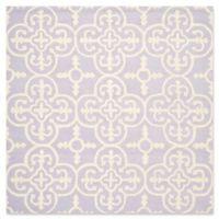 Safavieh Cambridge 6-Foot x 6-Foot Ava Wool Rug in Lavander/Ivory
