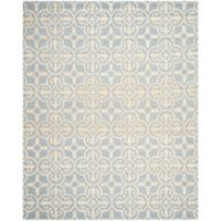 Safavieh Cambridge 9-Foot x 12-Foot Ava Wool Rug in Light Blue/Ivory