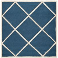 Safavieh Cambridge 6-Foot x 6-Foot Zara Wool Rug in Navy /Ivory