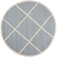 Safavieh Cambridge 6-Foot x 6-Foot Zara Wool Rug in Silver/Ivory