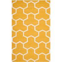 Safavieh Cambridge 5-Foot x 8-Foot Lia Wool Rug in Gold/Ivory