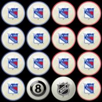 NHL New York Rangers Home vs. Away Billiard Ball Set