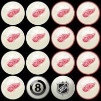 NHL Detroit Redwings Home vs. Away Billiard Ball Set