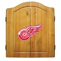 NHL Detroit Red Wings Dart Cabinet Set