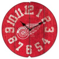 NHL Detroit Red Wings Vintage Round Wall Clock