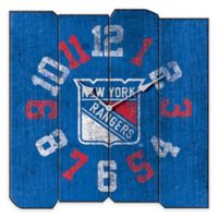 NHL NY Rangers Vintage Square Wall Clock