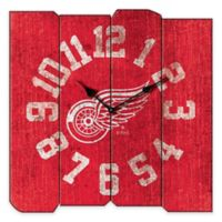 NHL Detroit Red Wings Vintage Square Wall Clock