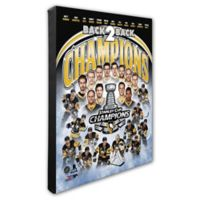 NHL 2017 Pittsburgh Penguins Championship Composite 16-Inch x 20-Inch Canvas Wall Art