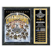 NHL 2017 Pittsburgh Penguins Stanley Cup Championship Plaque with Metal Plate