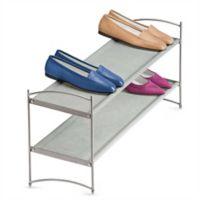 Lynk Vela Large 2 Tier Stackable Shoe Shelf Platinum Platinum