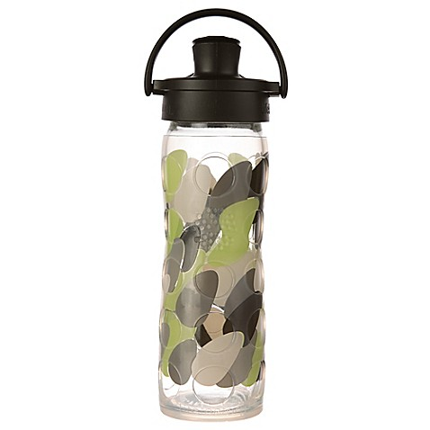 Lifefactory 174 16 Oz Glass Water Bottle With Flip Cap Bed