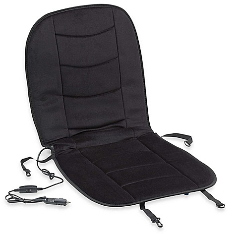 arctic x heated car seat cushion in black bed bath beyond. Black Bedroom Furniture Sets. Home Design Ideas