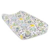 Trend Lab® Waverly Pom Pom Spa Plush Changing Pad Cover in Blue/Green