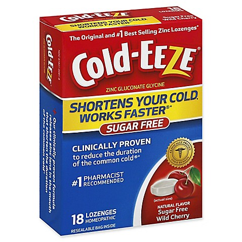 Cold-Eeze® 18-Count Zinc Lozenges in Sugar Free Wild ...