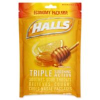 Halls® 80-Count Economy Pack Cough Suppressant/Oral Anesthetic Drops in Honey Lemon