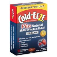 Cold-Eeze® 12-Count Cold Remedy Lozenges Plus Natural Multi-Symptom Relief in Mixed Berry Flavor