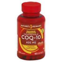 Nature's Reward 60-Count 400 mcg Maximum Strength Absorbable CoQ-10 Quick Release Softgels