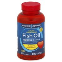 Nature's Reward 200-Count 1200 mcg Fish Oil Quick Release Softgels in Natural Lemon Flavor