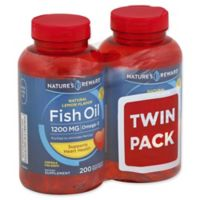 Nature's Reward Twin Pack 200-Count 1200 mcg Fish Oil Quick Release Softgels in Natural Lemon